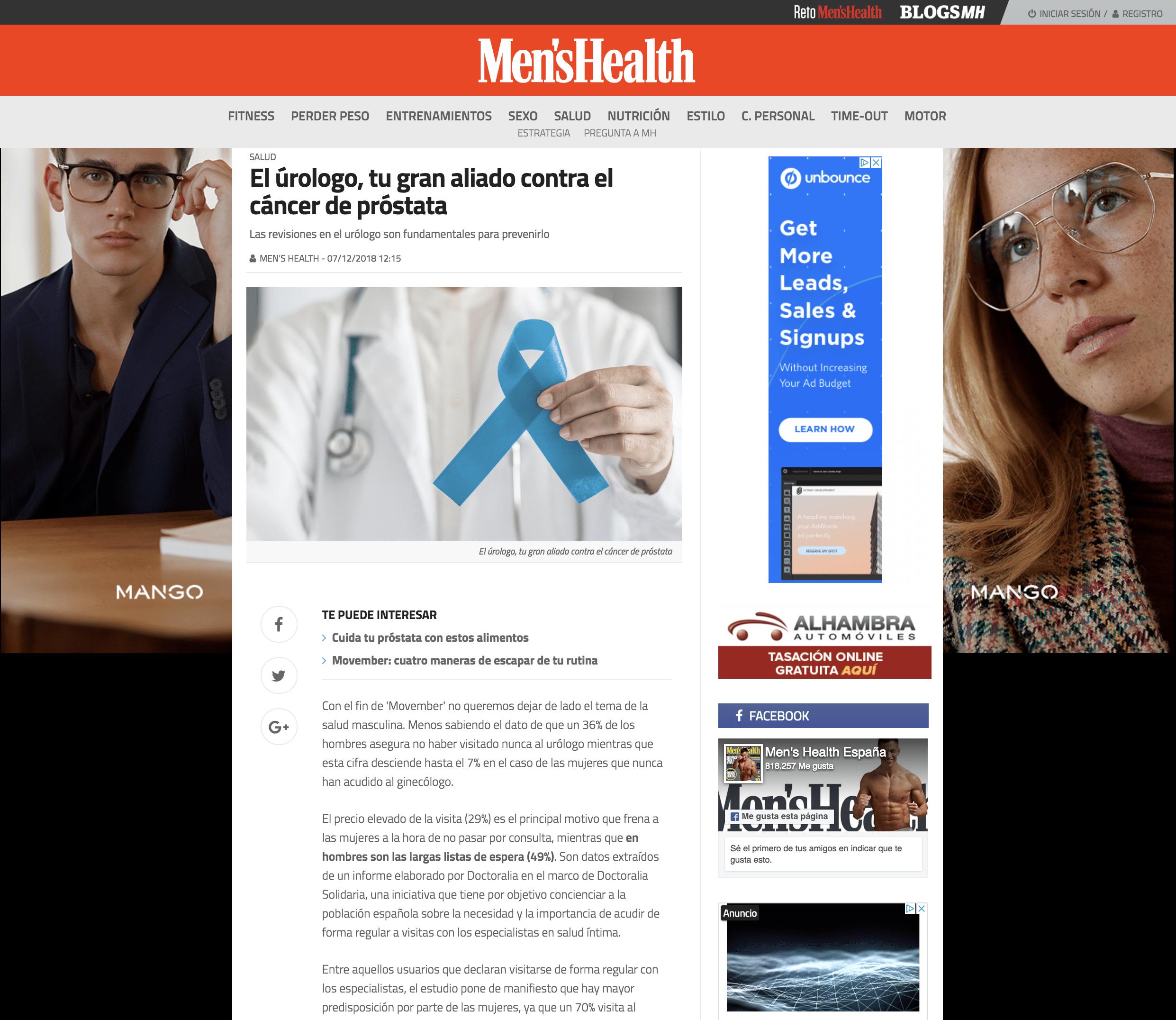 Patricia Ramírez Urologa Prensa Men's Health
